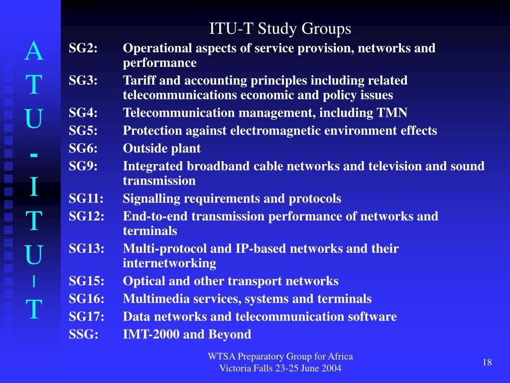 ITU-T Study Groups