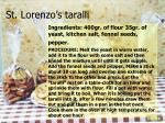 st lorenzo s taralli