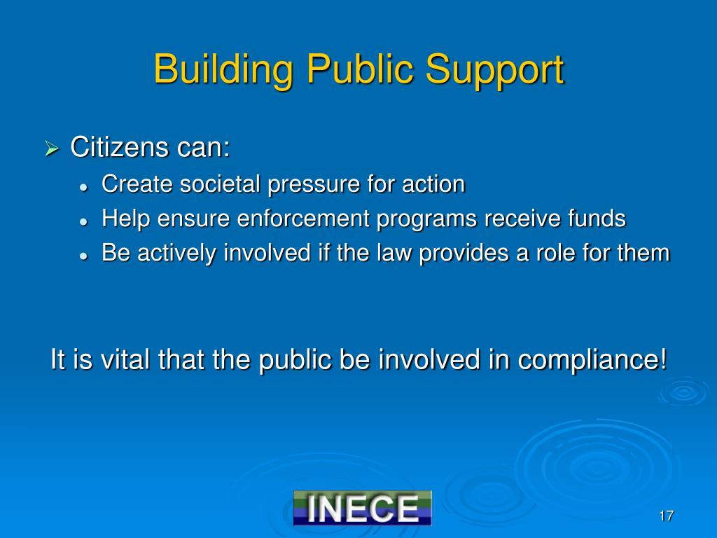 Building Public Support