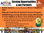 serving opportunities our partners