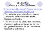 bbc news country profile zimbabwe