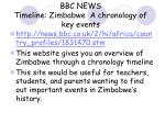 bbc news timeline zimbabwe a chronology of key events