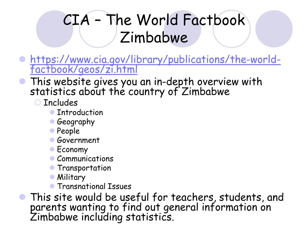CIA – The World Factbook