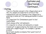 customs and courtesies continued18