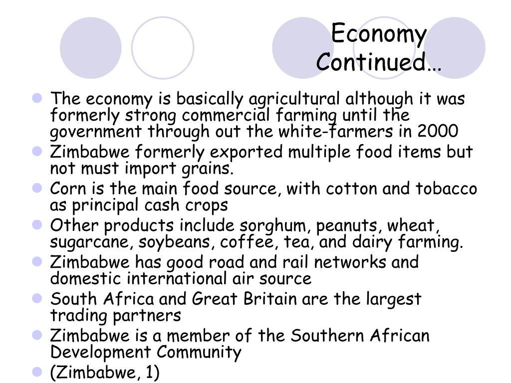 Economy Continued…