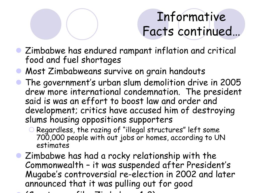 Informative Facts continued…