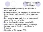 lifestyle family continued