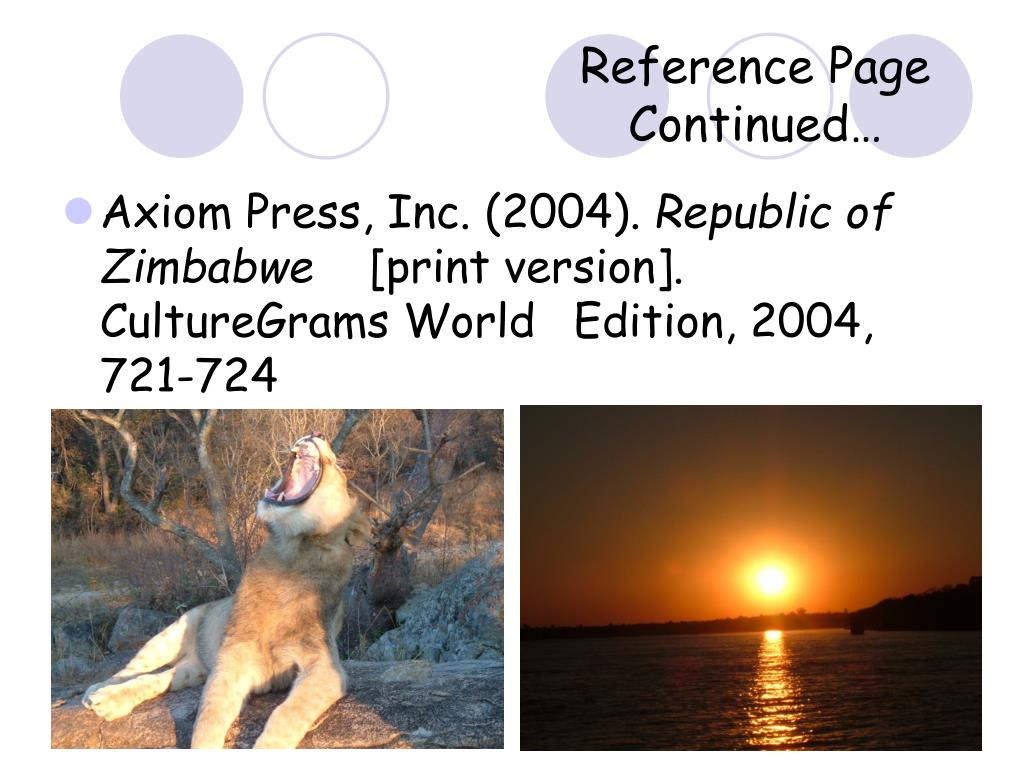 Reference Page Continued…