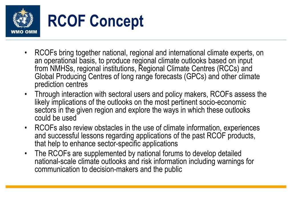 RCOF Concept