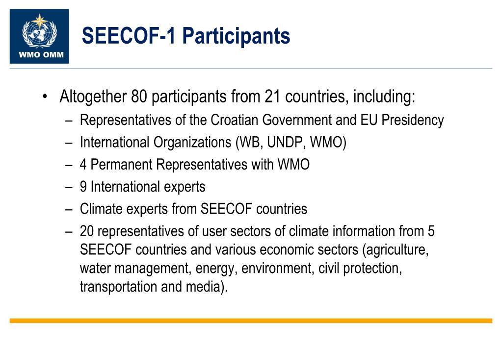 SEECOF-1 Participants