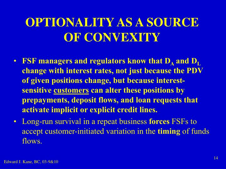 OPTIONALITY AS A SOURCE OF CONVEXITY