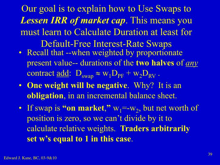 Our goal is to explain how to Use Swaps to