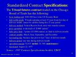 standardized contract specifications