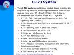 h 323 system