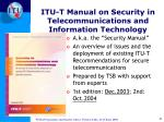 itu t manual on security in telecommunications and information technology