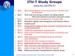 itu t study groups www itu int itu t