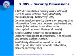 x 805 security dimensions