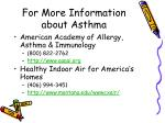 for more information about asthma21