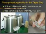 the cryobanking facility in the taipei zoo