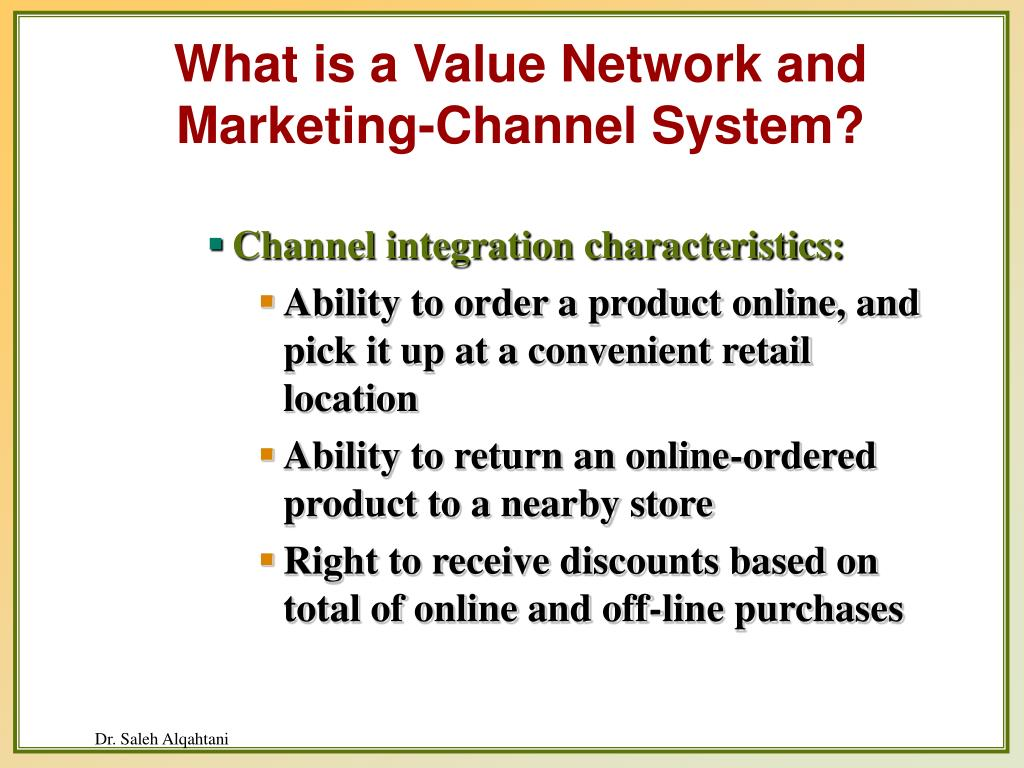 What is a Value Network and Marketing-Channel System?