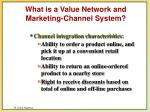what is a value network and marketing channel system5