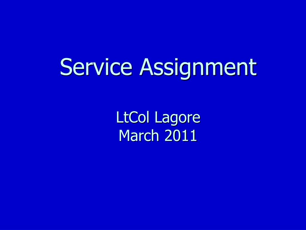 Service assignment
