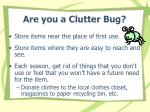 are you a clutter bug10