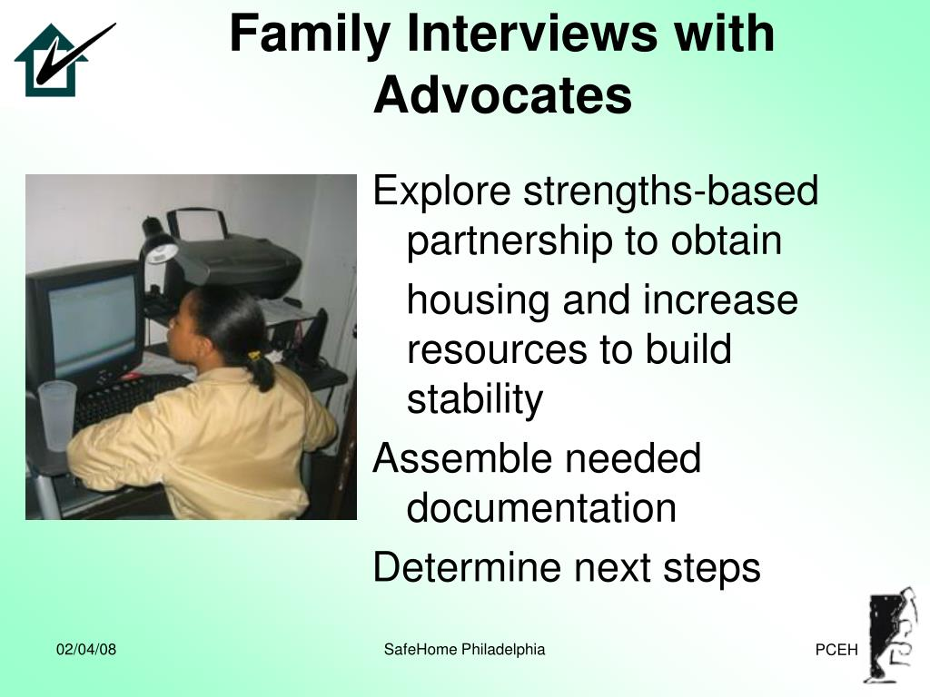 Family Interviews with Advocates