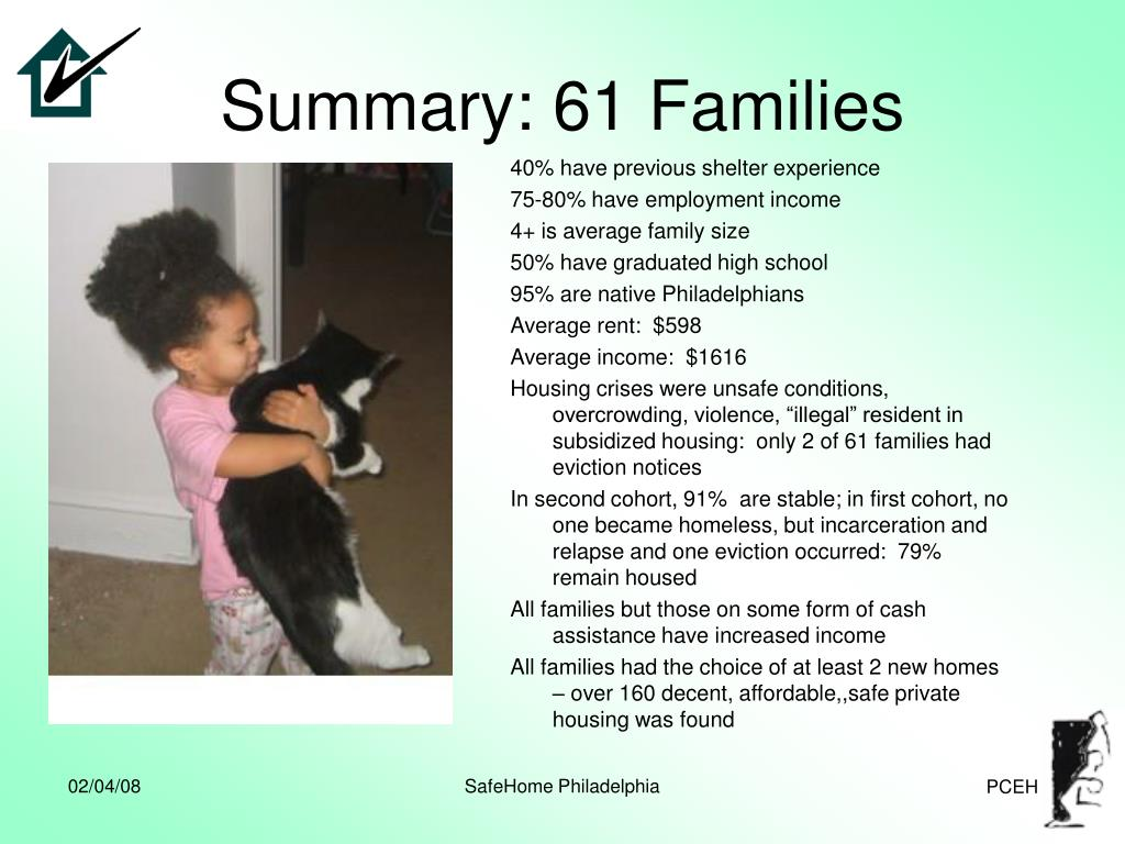 Summary: 61 Families
