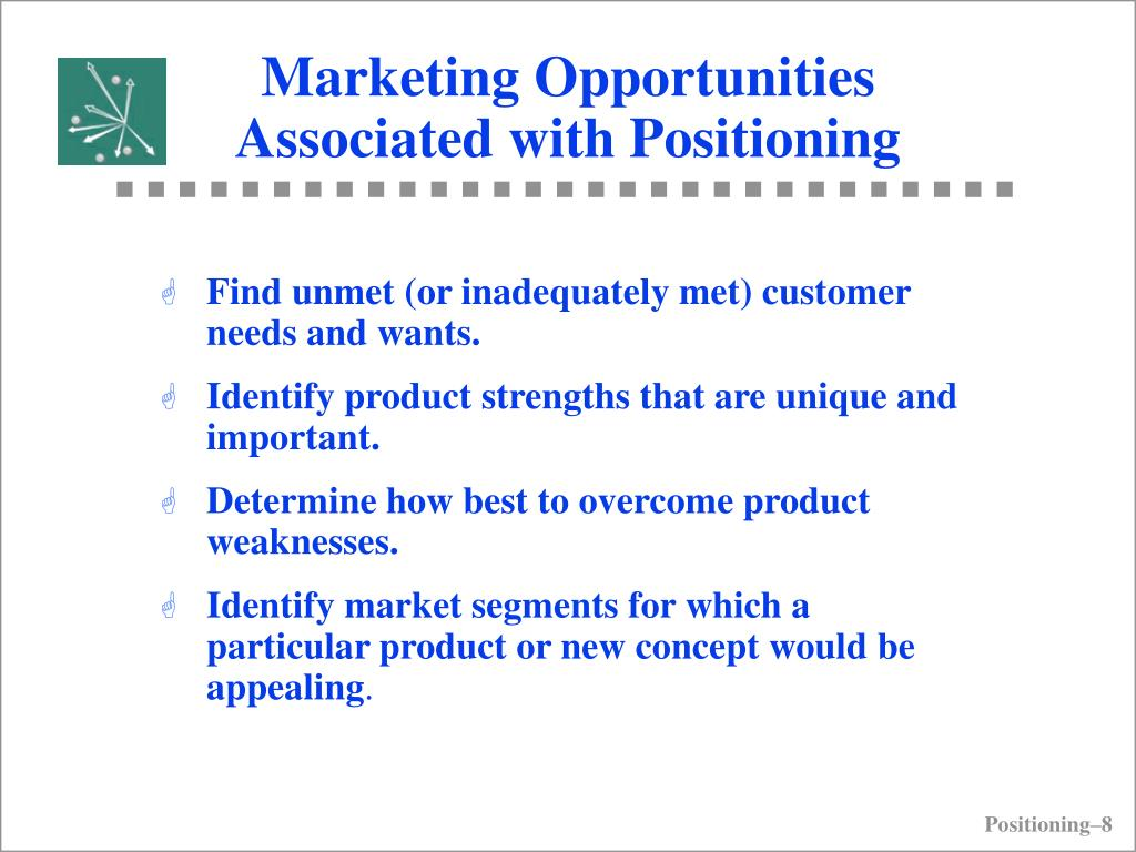 Marketing Opportunities Associated with Positioning