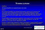 trauma systems