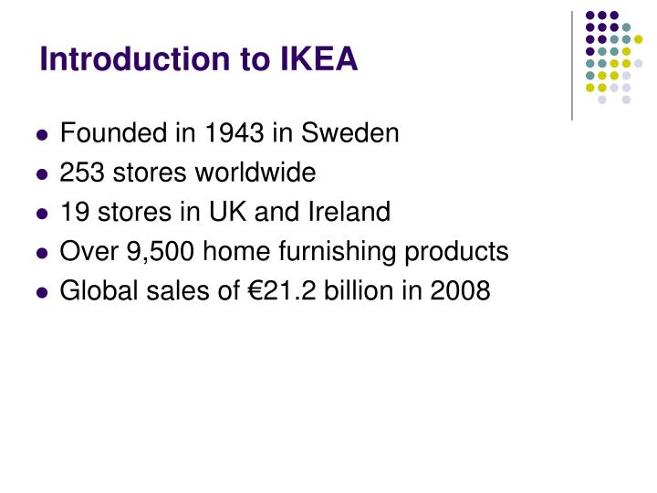 Introduction to ikea