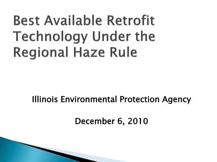 best available retrofit technology under the regional haze rule
