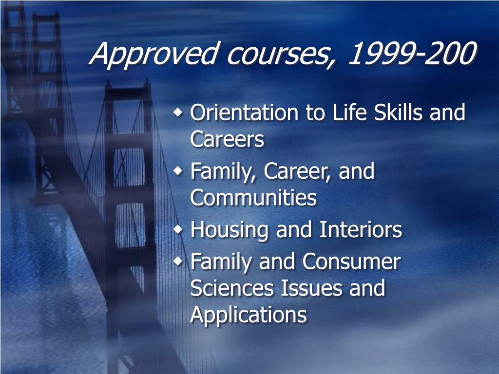 Approved courses, 1999-200
