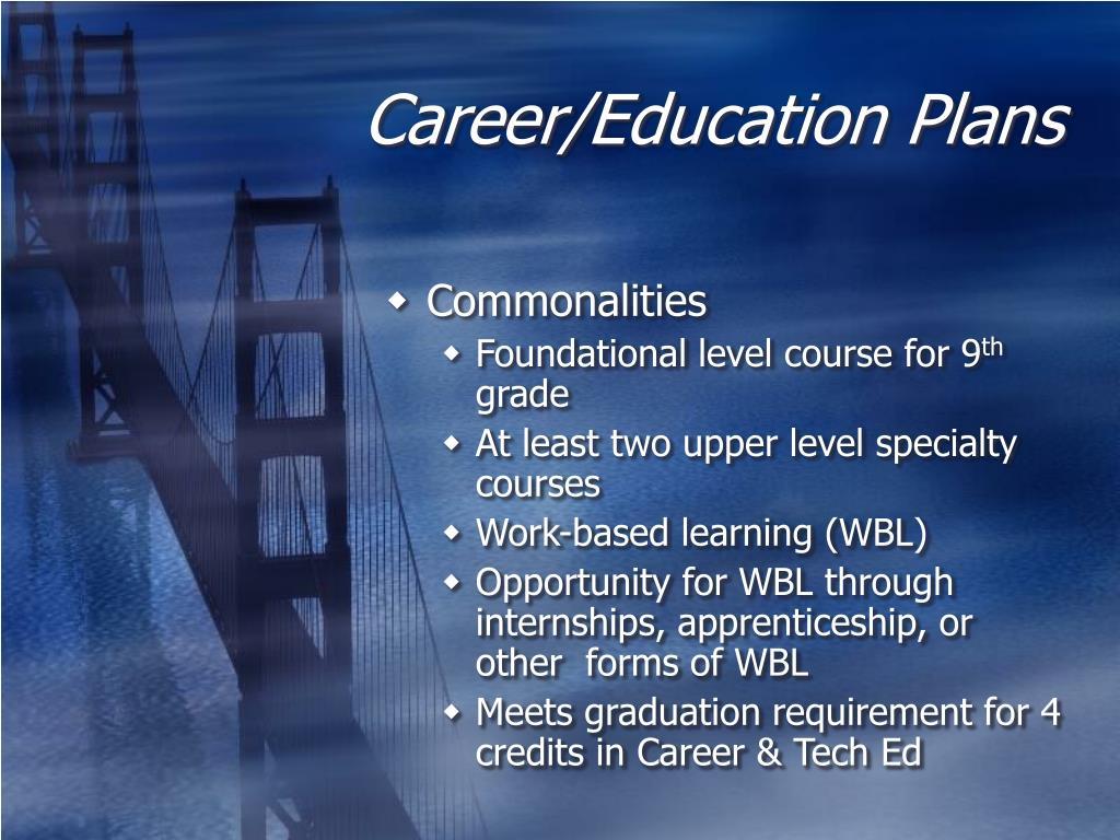 Career/Education Plans
