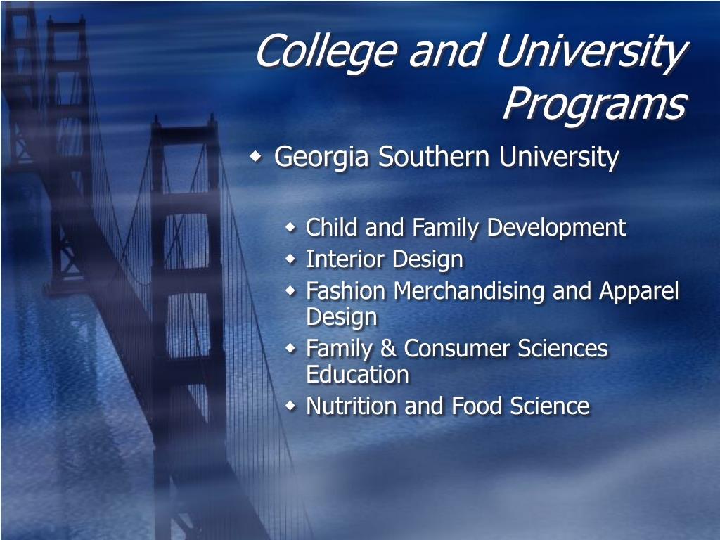 College and University Programs