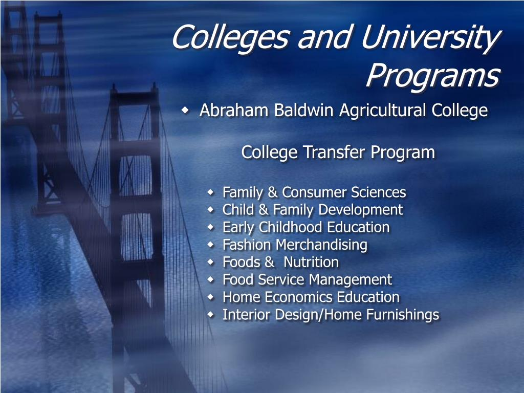 Colleges and University Programs