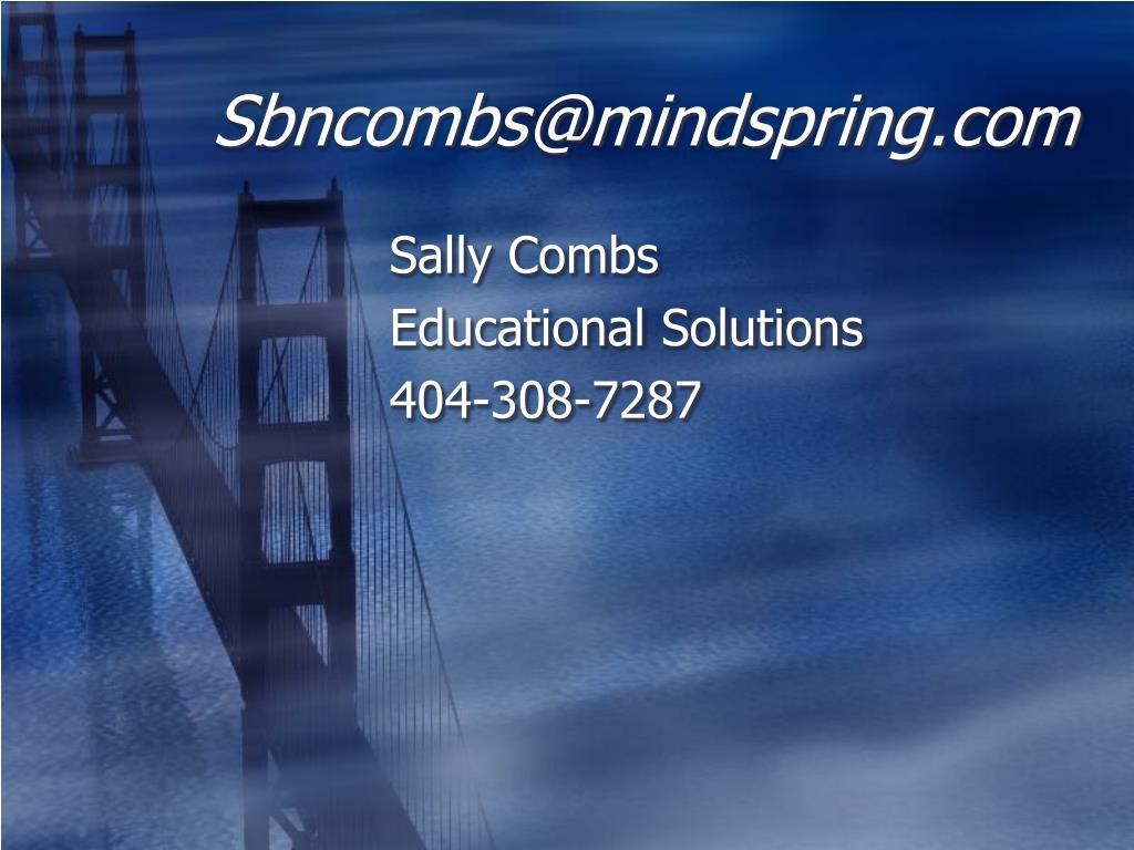Sbncombs@mindspring.com