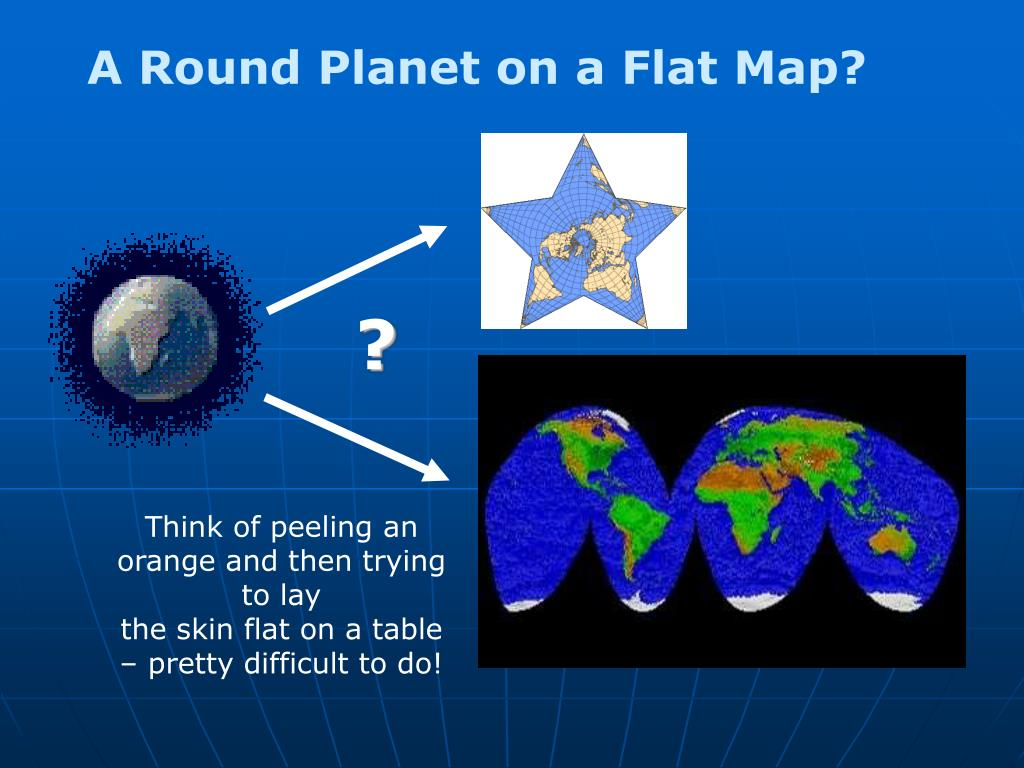 A Round Planet on a Flat Map?