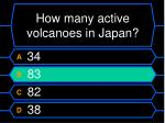 how many active volcanoes in japan12