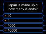japan is made up of how many islands