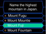 name the highest mountain in japan8