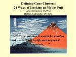 defining gene clusters 24 ways of looking at mount fuji2