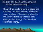 how can geothermal energy be converted to electricity