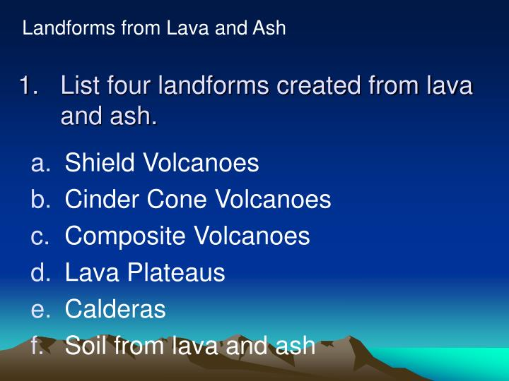 ppt - section 4 volcanic landforms powerpoint presentation - id:65156