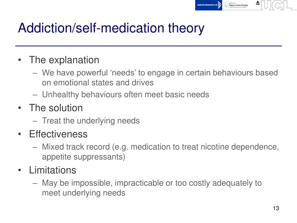 Addiction/self-medication theory