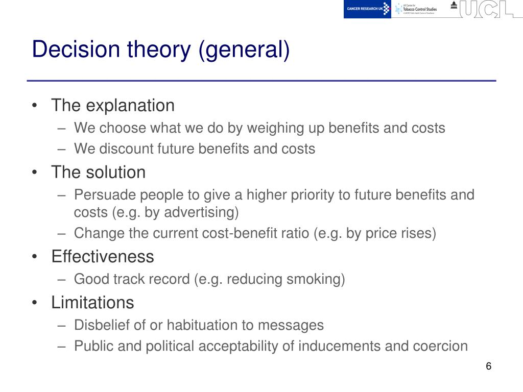 Decision theory (general)