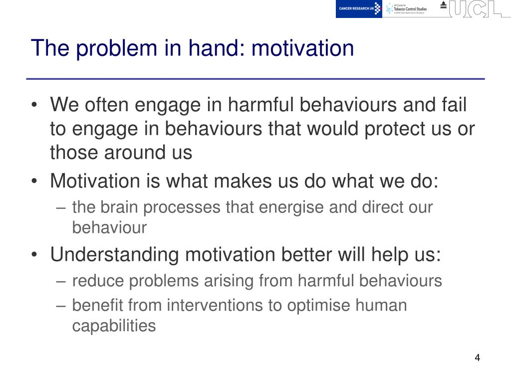 The problem in hand: motivation