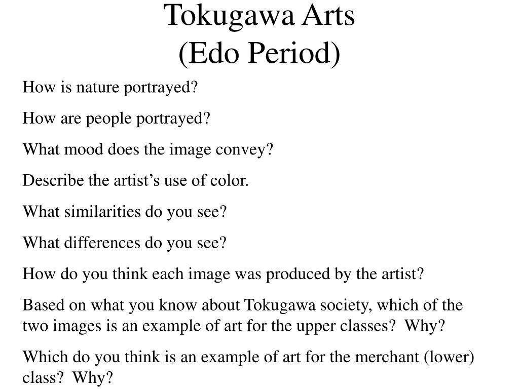 tokugawa arts edo period l.