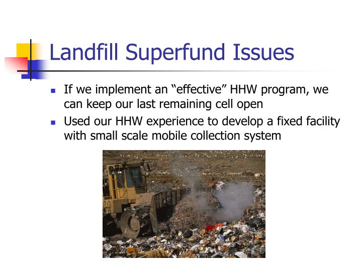 Landfill Superfund Issues